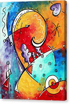 Tickle My Fancy Original Whimsical Painting Canvas Print by Megan Duncanson