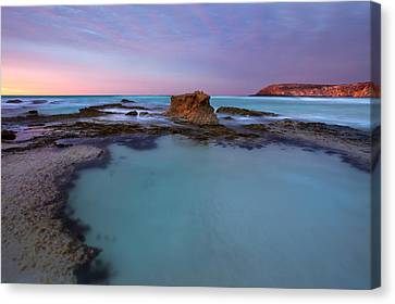 Tidepool Dawn Canvas Print by Mike  Dawson