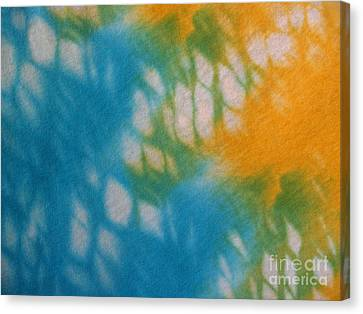 Tie Dye In Yellow Aqua And Green Canvas Print by Anna Lisa Yoder