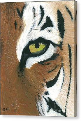 Tiger Canvas Print by Dani Moore