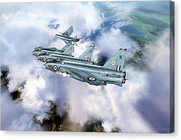 Tiger Squadron Peel Off Canvas Print by Peter Chilelli