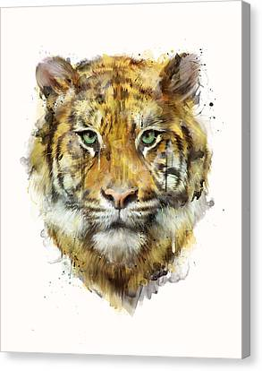 Tiger // Strength Canvas Print by Amy Hamilton