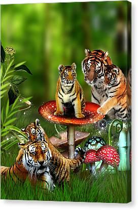 Tiger Toadstools Canvas Print by Julie L Hoddinott