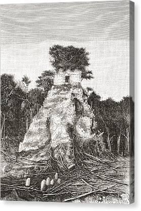 Tikal, Guatemala, Central America. The Canvas Print by Vintage Design Pics