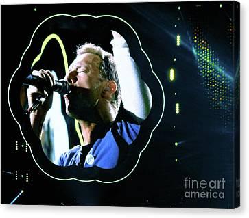 Chris Martin - A Head Full Of Dreams Tour 2016  Canvas Print by Tanya Filichkin