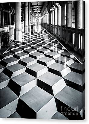 Tile Design Canvas Print by Perry Webster