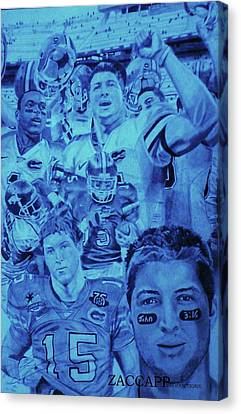 Tim Tebow Canvas Print by Zachary  Capodici