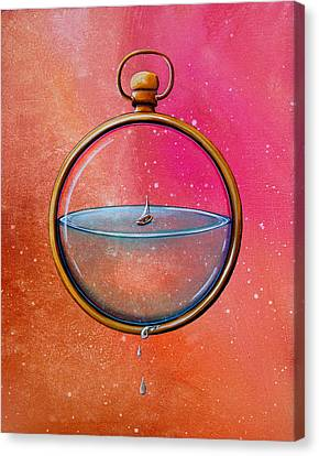 Time And Space Canvas Print by Cindy Thornton