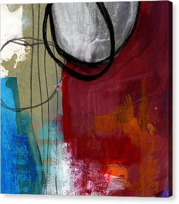 Time Between- Abstract Art Canvas Print by Linda Woods