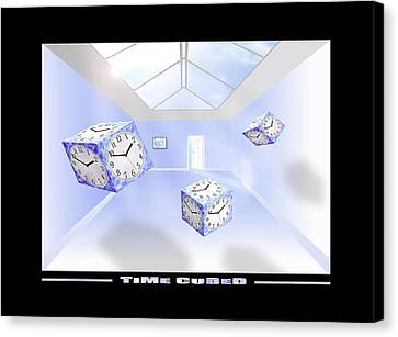 Time Cubed Canvas Print by Mike McGlothlen