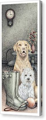 Time To Walk Canvas Print by Sandra Moore