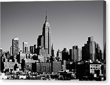 Timeless - The Empire State Building And The New York City Skyline Canvas Print by Vivienne Gucwa