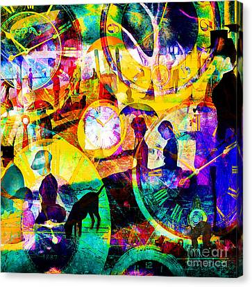 Timeless Art A Sunday On La Grande Jatte 20160229 Square Canvas Print by Wingsdomain Art and Photography