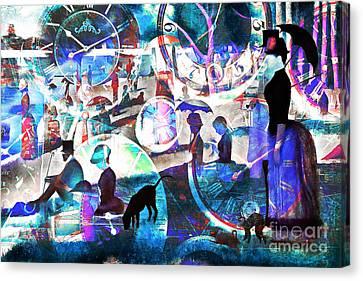Timeless Art A Sunday On La Grande Jatte 20160229 Canvas Print by Wingsdomain Art and Photography