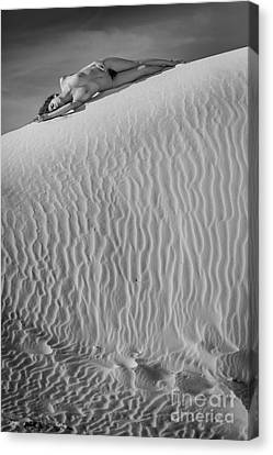 Timeless Sand Canvas Print by Inge Johnsson