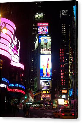 Times Square 1 Canvas Print by Anita Burgermeister