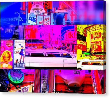Times Square Frenzy Canvas Print by Funkpix Photo Hunter