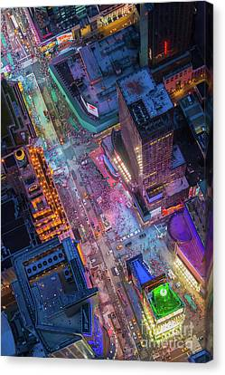 Times Square From Above Canvas Print by Inge Johnsson