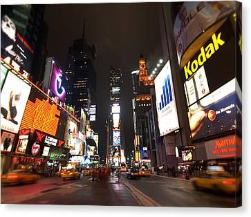 Times Square Canvas Print by John Gusky