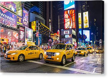 Times Square Canvas Print by Kobby Dagan