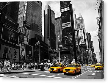 Times Square Canvas Print by Mandy Wiltse