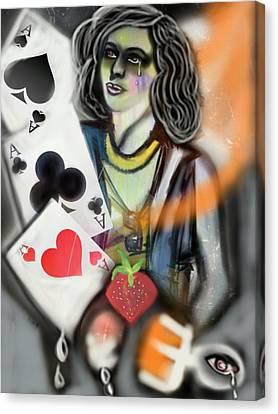 Times Up Gypsy  Canvas Print by Pat Carafa