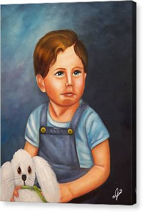 Timmy And Fluffy Canvas Print by Joni McPherson
