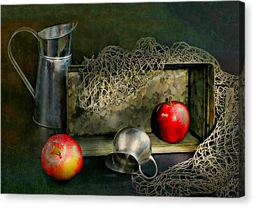 Tin Apples Canvas Print by Diana Angstadt