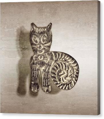 Tin Cat Canvas Print by YoPedro