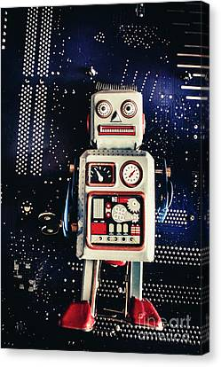 Tin Toy Robots Canvas Print by Jorgo Photography - Wall Art Gallery