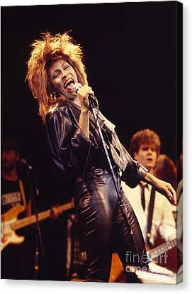 Tina Turner 1984 Canvas Print by Chris Walter