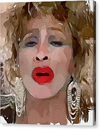 Tina Turner Private Dancer Canvas Print by Yury Malkov