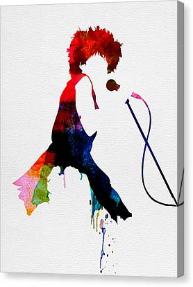 Tina Watercolor Canvas Print by Naxart Studio