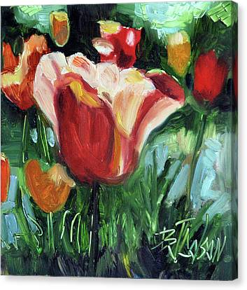 Tip Toe Thru The Tulips Canvas Print by Billie Colson