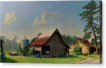 Tired And Retired Canvas Print by Doug Strickland