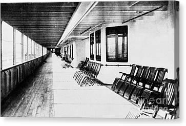 Titanic: Promenade Deck Canvas Print by Granger