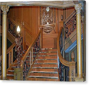 Titanics Grand Staircase Canvas Print by DigiArt Diaries by Vicky B Fuller