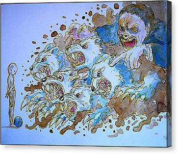 To Corrupt The Innocence Canvas Print by Paulo Zerbato