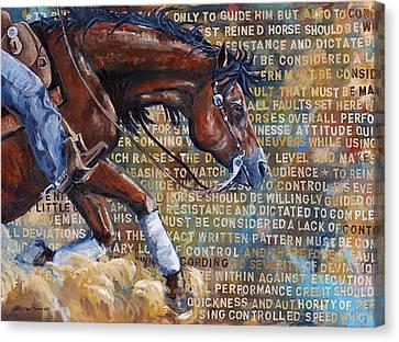 To Rein A Horse Canvas Print by Sarrah Dibble-Camburn