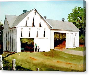 Tobacco Barn Canvas Print by Faye Ziegler