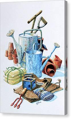 Todays Toil Tomorrows Pleasure Iv Canvas Print by Hanne Lore Koehler