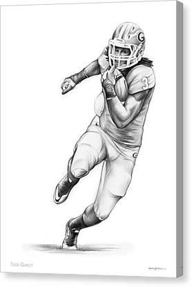 Todd Gurley Canvas Print by Greg Joens