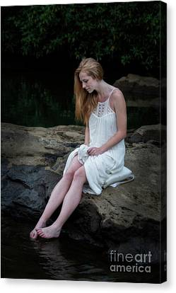Toes In The Water Canvas Print by Dan Friend
