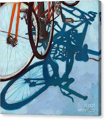 Together - City Bikes Canvas Print by Linda Apple