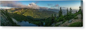 Tolmie Peak Viewpoint Canvas Print by Ken Stanback