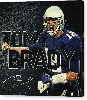Tom Brady Canvas Print by Taylan Apukovska