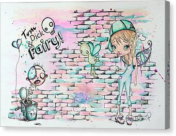 Tom Dick And Fairy Canvas Print by Lizzy Love