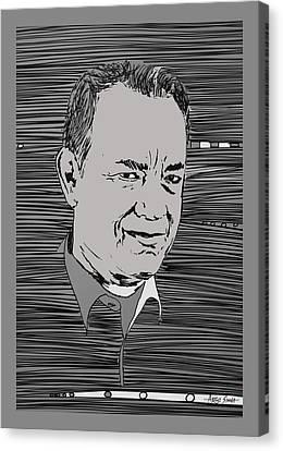Tom Hanks Canvas Print by Artist Singh