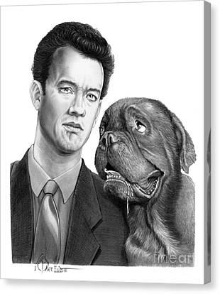Tom Hanks Canvas Print by Murphy Elliott