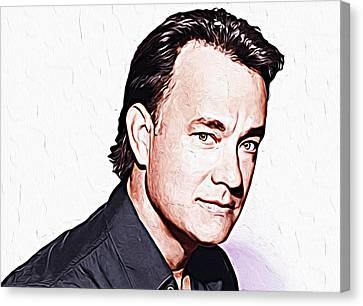 Tom Hanks Canvas Print by Iguanna Espinosa
